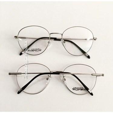 Armação de óculos de grau - Round titanium - Prata