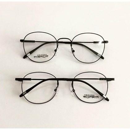 Armação de óculos de grau - Round Wave Titanium - Preto