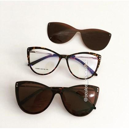 Armação de óculos de grau - Sarah 995 - Animal print lente marrom