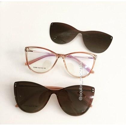 Armação de óculos de grau - Sarah 995 - Rose transparência lente marrom degrade C4