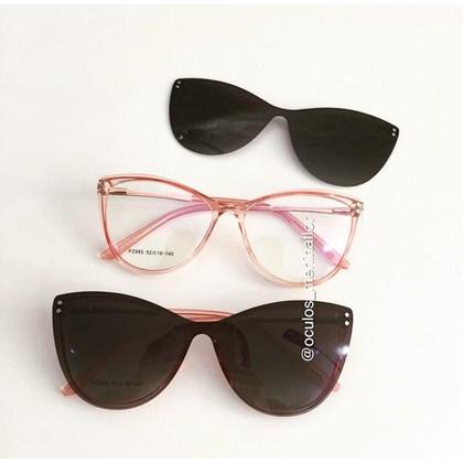 Armação de óculos de grau - Sarah 995 - Rose transparência lente preta C5