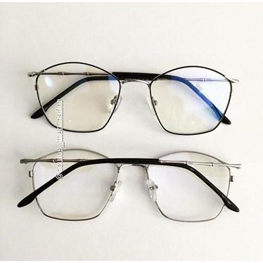 Armação de óculos de grau - Secrets - Preto com prata