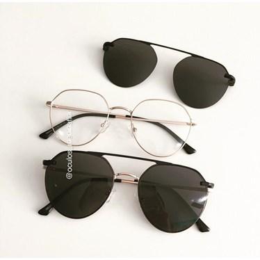 Armação de óculos de grau - Sereia 2006 - Dourado