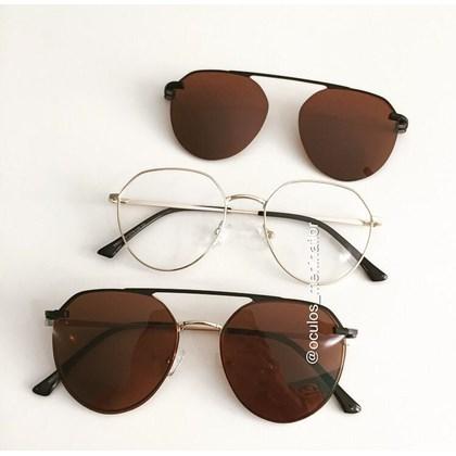 Armação de óculos de grau - Sereia 2006 - Lente Marrom