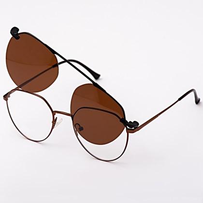 Armação de óculos de grau - Sereia 3046 - Bronze lente marrom