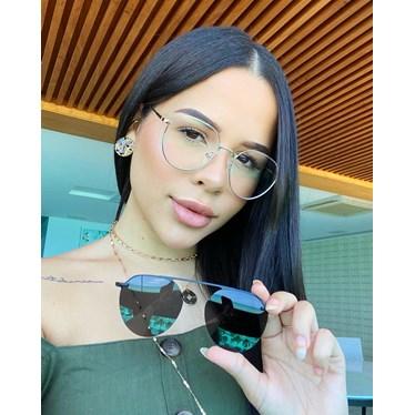Armação de óculos de grau - Sereia 3046 - Dourado