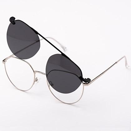 Armação de óculos de grau - Sereia 3046 - Prata