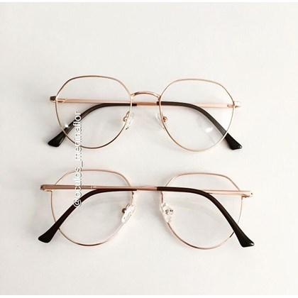 Armação de óculos de grau - Sereia 3046 - Rose Gold