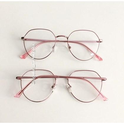 Armação de óculos de grau - Sereia 3046 - Rose Metálico