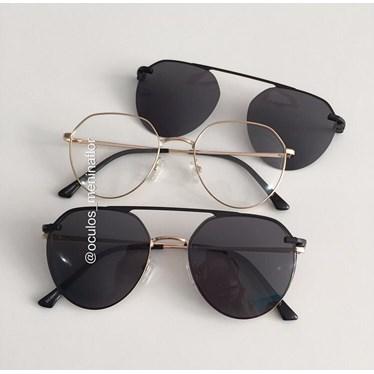 Armação de óculos de grau - Sereia - Dourado
