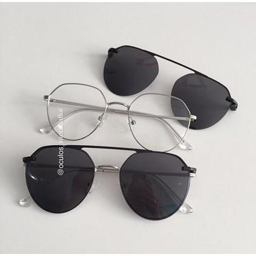 Armação de óculos de grau - Sereia - Prata