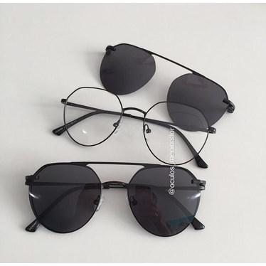 Armação de óculos de grau - Sereia - Preto