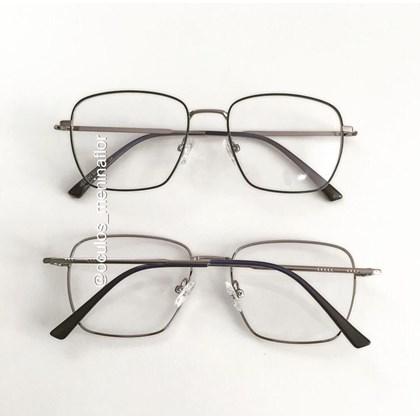 Armação de óculos de grau - Sereia quadradinha - Azul com grafite C4