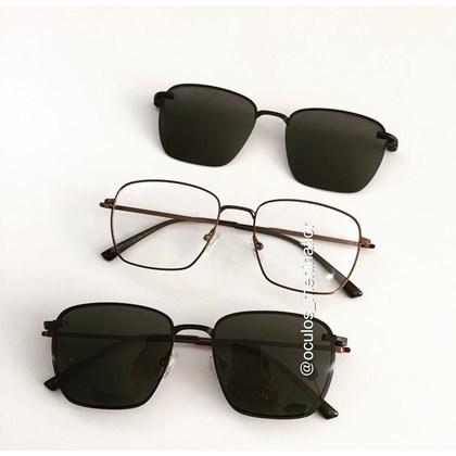 Armação de óculos de grau - Sereia quadradinha - Bronze C5