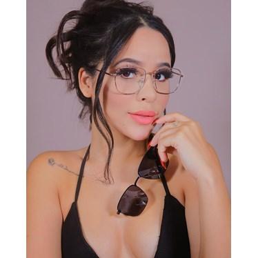 Armação de óculos de grau - Sereia quadradinha - Dourado