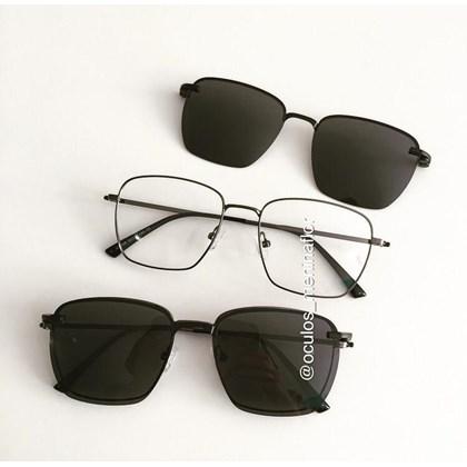 Armação de óculos de grau - Sereia quadradinha - Grafite