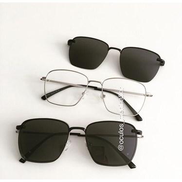 Armação de óculos de grau - Sereia quadradinha - Prata