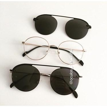 Armação de óculos de grau - Sirena 2004 - Dourado