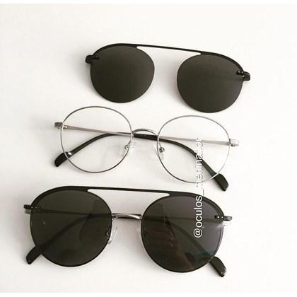 Armação de óculos de grau - Sirena 2004 - Prata