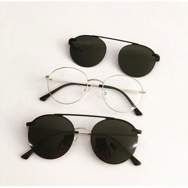 Armação de óculos de grau - Sirena 3050 - Dourado Lente Preta