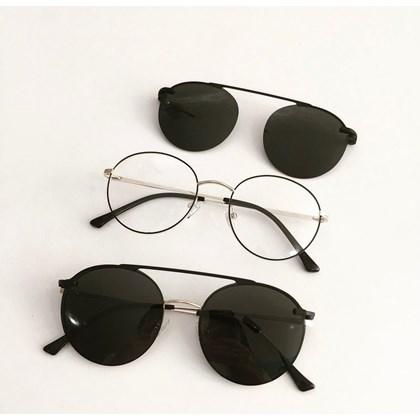 Armação de óculos de grau - Sirena 3050 - Preto com dourado lente preta