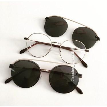 Armação de óculos de grau - Sirena - Dourado