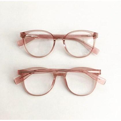 Armação de óculos de grau - Tamires 3685 - Rose transparência