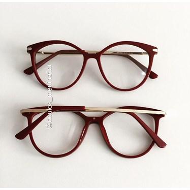 Armação de óculos de grau - Tati - Vinho