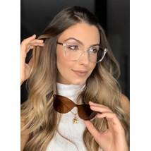 Armação de óculos de grau - Texas 5104/6104 - Transparente haste Animal Print C5