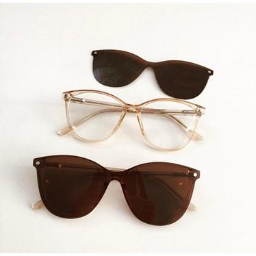 Armação de óculos de grau - Texas 5104 - Dourado transparência C3