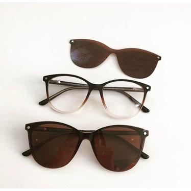Armação de óculos de grau - Texas 5104 - Marrom transparência C4