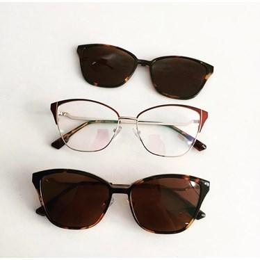 Armação de óculos de grau - Thalia 25327 - Bordo Lente Animal Print C2