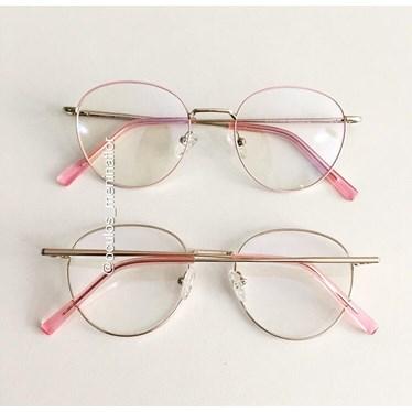 Armação de óculos de grau - Trip Rose - Rose com dourado