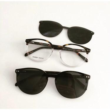 Armação de óculos de grau - Virginia 25021 - Animal print transparência C2