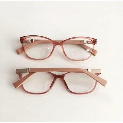 Armação de óculos de grau - Vitória 3694 - Rose tranparência