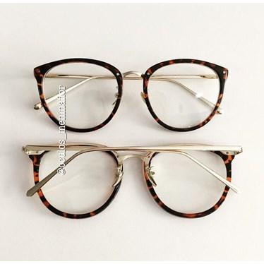 Armação de óculos de grau - X807 - Animal print escuro