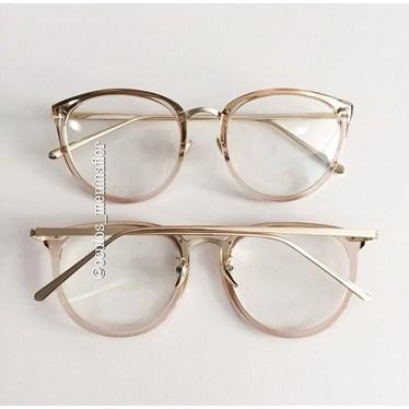 Armação de óculos de grau - X807 - Dourado claro transparente