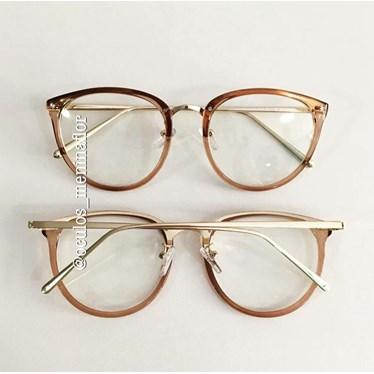 Armação de óculos de grau - X807 - Dourado transparente