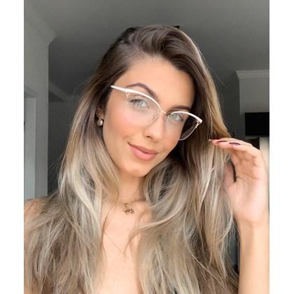 Armação para óculos de grau - Bárbara 6833 - Branco