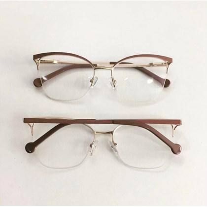 Armação para óculos de grau - Bárbara 6833 - Nude C4