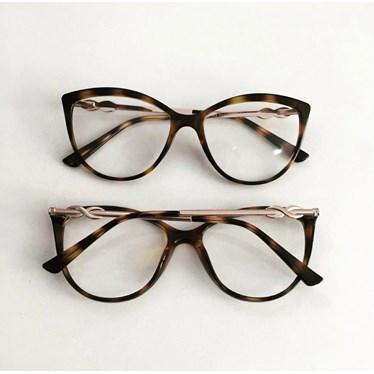 Armação para óculos de grau - Linda 7042 - Animal Print