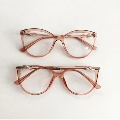Armação para óculos de grau - Linda 7042 - Rose Transparência C4
