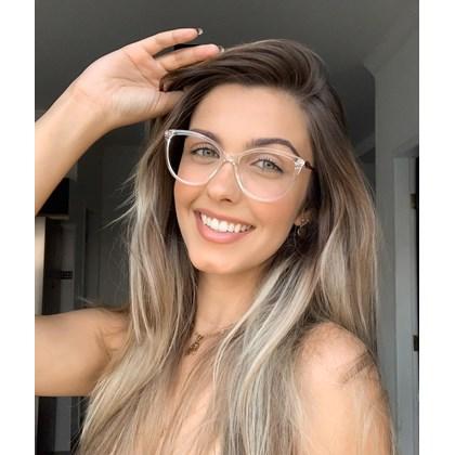 Armação para óculos de grau - Linda 7042 -Transparente