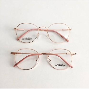 Armação para óculos de grau - Round Wave Titanium - Rose Gold