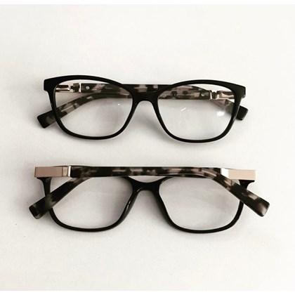 Armação para óculos de grau - Vitória 3694 - Preto Haste Animal Print