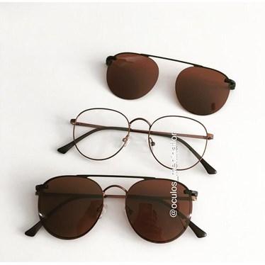 Armação para óculos grau - Good Girl - Bronze lente marrom