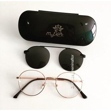 Armação para óculos grau - Redondinho 3047A - Rose Gold