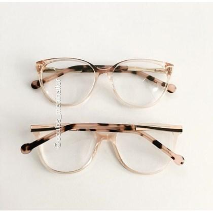Armação para óculos grau - Sophia - Rose transparência