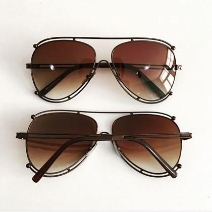 be5a21579 Menina Flor. Produto Indisponível. Óculos de sol - Aviador Paradise -  Marrom ...