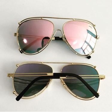 8d39aa63d Óculos de sol - Aviador Paradise - Rose espelhado - Óculos Menina Flor
